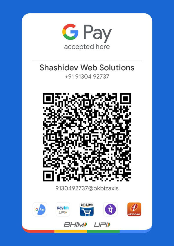Pay Online to Shashidev Web Solutions